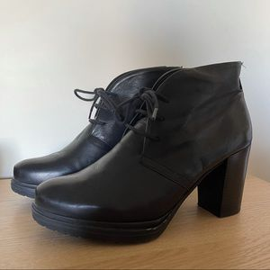 Authentic leather booties
